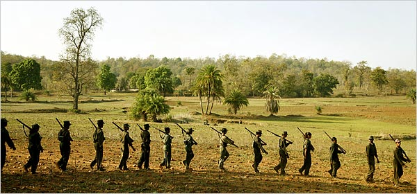 Maoist fighters in India