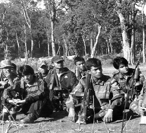 Soldiers of the Nepali Peoples Liberation Army