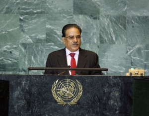 Prachanda before the UN