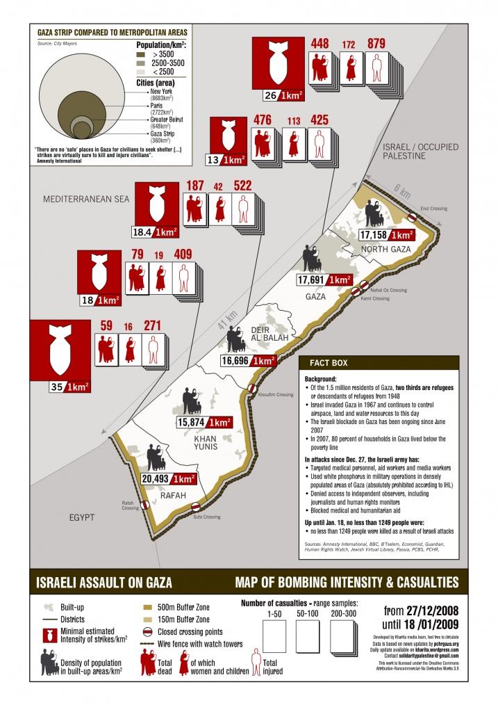 Gaza Map Israeli