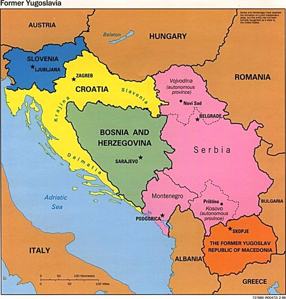 Balkan Region Map