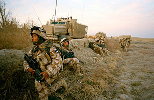 A brigade of Nepalese Gurkha soldiers 2008 in Afghanistan's Helmand province