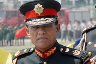 Katawal, just fired as head of Nepal's army