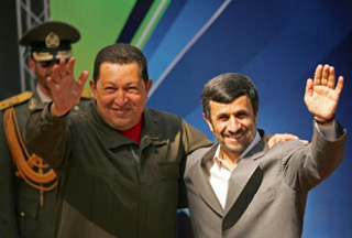 Hugo Chavez and Ahmadinejad (at an earlier meeting)