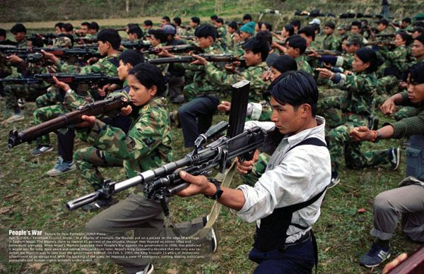 Nepali People Photos. Nepali revolutionary forces