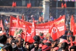 Red flags at Maoist congress