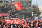 Red flags at Maoist congress 2